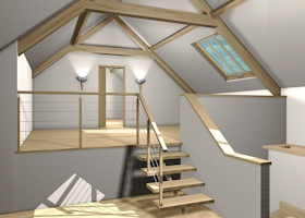 Attic After Four Decades Contracting